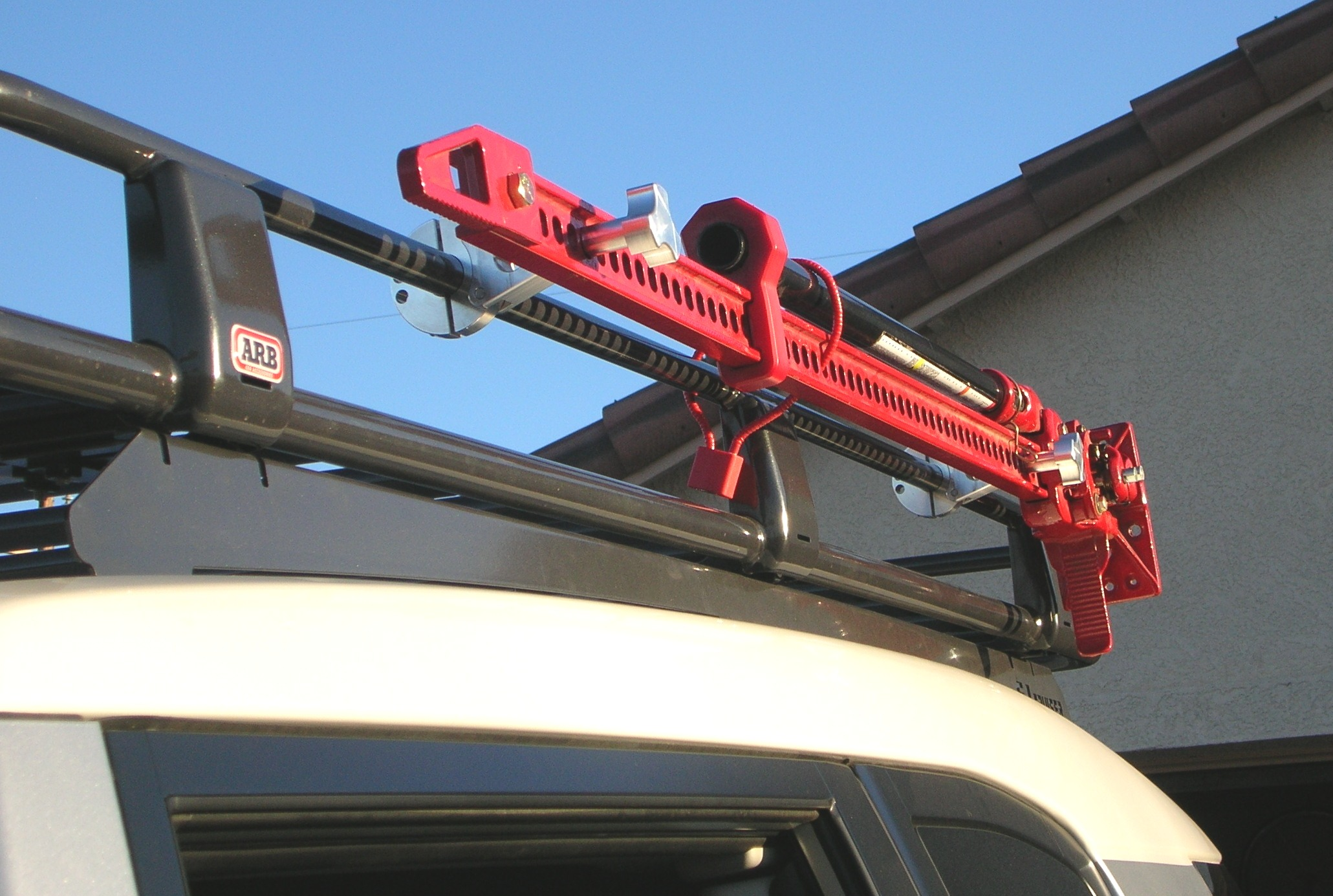 Hi-lift roll bar mounts.  Solutions to mount and store your gear safely while out on the trail!